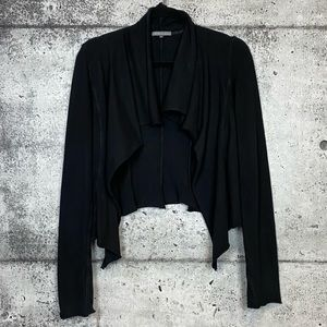 James Perse // Cropped Waterfall Front Cardigan